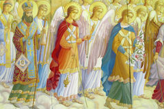 Relogious painting, Christian icon in orthodox church royalty free stock images