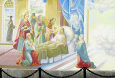 Relogious painting, Christian icon in orthodox church stock photo