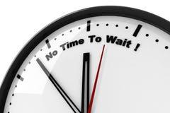 reloj 3d y ningún tiempo de esperar Fotografía de archivo
