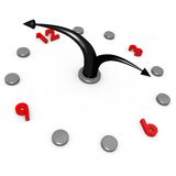 Reloj abstracto Fotografía de archivo libre de regalías
