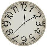 Reloj abstracto contra blanco Imagen de archivo libre de regalías