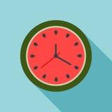 Reloj abstracto de la sandía Concepto del tiempo de verano Foto de archivo libre de regalías