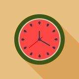Reloj abstracto de la sandía Concepto del tiempo de verano Fotos de archivo libres de regalías