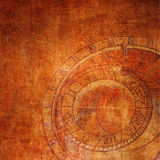 Reloj abstracto del zodiaco Fotografía de archivo