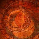 Reloj abstracto del zodiaco Fotografía de archivo libre de regalías