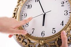 Reloj aislado Imágenes de archivo libres de regalías