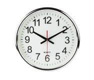Reloj aislado con el camino de recortes imagen de archivo libre de regalías
