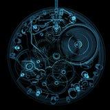 Reloj aislado en negro stock de ilustración