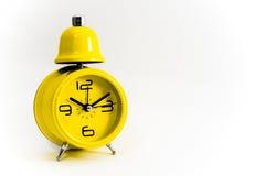 Reloj amarillo Imagen de archivo libre de regalías