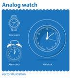 Reloj análogo imagen de archivo libre de regalías
