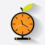 Reloj anaranjado Foto de archivo libre de regalías