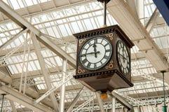 Reloj antiguo de la estación Imagen de archivo