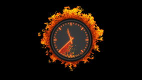Reloj ardiente ilustración del vector