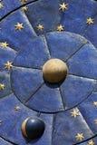 Reloj astrológico imágenes de archivo libres de regalías
