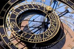 Reloj astrológico foto de archivo
