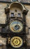 Reloj astrológico de Praga Fotografía de archivo libre de regalías