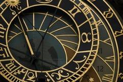 Reloj astrológico en Praga Fotografía de archivo