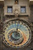 Reloj astrológico en Praga, República Checa Fotografía de archivo