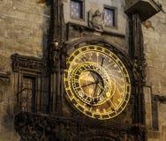 Reloj astronómico checo Fotografía de archivo
