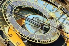Reloj astronómico de Praga imagen de archivo libre de regalías
