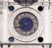 Reloj astronómico de Venecia Foto de archivo