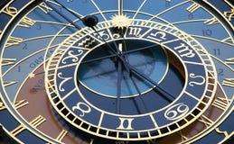 Reloj astronómico en la vieja plaza, Praga imagen de archivo libre de regalías