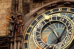 Reloj astronómico en Praga Imagen de archivo libre de regalías