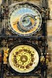 Reloj astronómico en Praga Imágenes de archivo libres de regalías