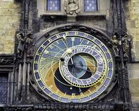 Reloj astronómico en Praga Fotos de archivo libres de regalías