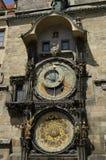 Reloj astronómico en Praga, República Checa Imagen de archivo