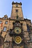 Reloj astronómico en Praga, República Checa Fotos de archivo