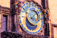 Reloj astronómico, plaza, Praga, República Checa Foto de archivo
