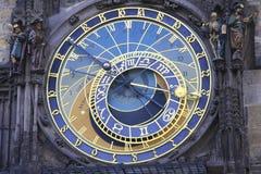 Reloj astronómico Praga fotos de archivo