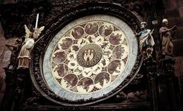 Reloj astronómico en Praga Imagen de archivo