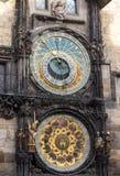 Reloj astronómico en Praga Imagenes de archivo