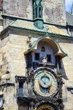 Reloj astronómico en Praga Fotografía de archivo libre de regalías