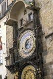 Reloj astronómico Praga Fotos de archivo libres de regalías