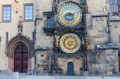 Reloj astronómico viejo, vieja plaza, Praga Imagen de archivo libre de regalías
