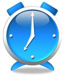 Reloj azul imagenes de archivo