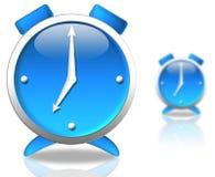 Reloj azul imágenes de archivo libres de regalías