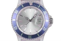 Reloj azul Foto de archivo libre de regalías