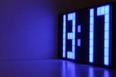 Reloj azul Fotografía de archivo