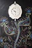 Reloj blanco Fotos de archivo libres de regalías