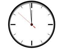 Reloj blanco Imagenes de archivo