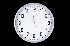 Reloj blanco del Año Nuevo Fotografía de archivo libre de regalías
