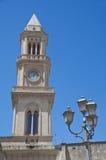Reloj cívico de la torre. Altamura. Apulia. Foto de archivo