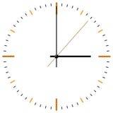 Reloj-cara stock de ilustración