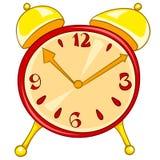 Reloj casero de la historieta Foto de archivo