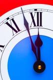 Reloj casi de medianoche fotos de archivo libres de regalías