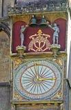 Reloj - catedral de los receptores de papel imagen de archivo libre de regalías